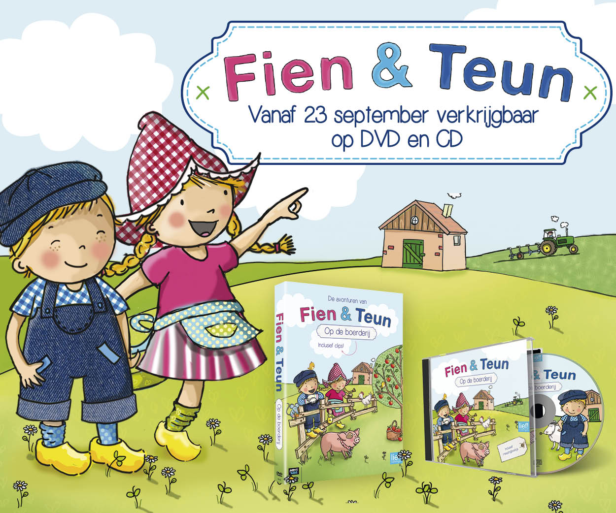 Fien en Teun dvd en cd